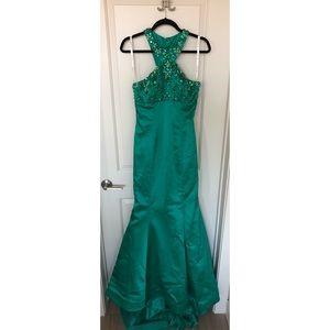 Sherri Hill Green Mermaid Dress | Size 2